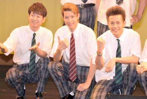 『演歌男子。学園祭LIVE』に出演した(左から)パク・ジュニョン、花園直道、友井雄亮 (C)ORICON NewS inc.