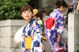 ドラマ『愛してたって、秘密はある。』第4話で浴衣姿を披露する川口春奈 (C)日本テレビ
