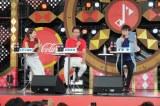 『熱闘甲子園』のスペシャルイベントに参加した(左から)ヒロド歩美アナ、古田敦也、高橋優(C)ABC