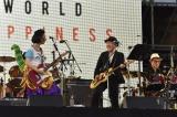 (左から)のん、鈴木慶一、高橋幸宏=『WORLD HAPPINESS 2017』 PHOTO:TEAM LIGHTSOME