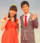 NHK・Eテレの子ども番組『おかあさんといっしょ』の会見に出席した(左から)小野あつこ、花田ゆういちろう (C)ORICON NewS inc.