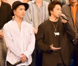 劇場版『HiGH&LOW THE MOVIE 2 END OF SKY』完成披露プレミアイベントに登壇した(左から)登坂広臣、TAKAHIRO (C)ORICON NewS inc.