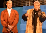 劇場版『HiGH&LOW THE MOVIE 2 END OF SKY』完成披露プレミアイベントに登壇した(左から)関口メンディー、ELLY (C)ORICON NewS inc.