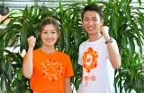 新人アナウンサーの岩原大起アナウンサー(22)と、中村秀香アナウンサー(22)もメイン会場であるツイン21 での中継を担当(C)読売テレビ