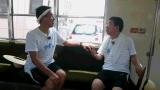 琴電に乗る西川きよし(右)と石田靖(左)(C)関西テレビ