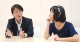 (左から)頃末敬社長、notall・佐藤遥 (C)ORICON NewS inc.