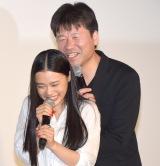 佐藤二朗のささやきに大笑いする杉咲花 (C)ORICON NewS inc.