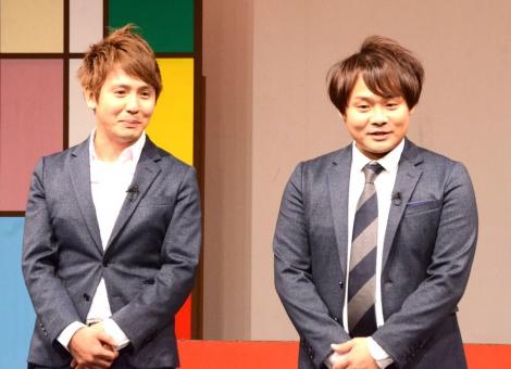 11・25から福岡よしもとに移籍することを発表したサカイスト(左から)デンペー、まさよし (C)ORICON NewS inc.