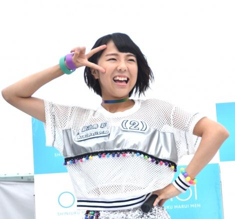 デビューシングル「Sun!×3/二の足Dancing」のリリースイベントに登場したアップアップガールズ(2)の鍛治島彩 (C)ORICON NewS inc.