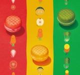 野菜とフルーツを使用したミスドとタニタのコラボドーナツ『ベジポップ』3種