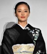 『関ヶ原』初日舞台あいさつに出席した中越典子 (C)ORICON NewS inc.