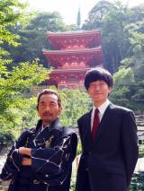 CBC・TBS系スペシャルドラマ『父、ノブナガ。』(10月7日放送)に主演する田辺誠一(左)と織田信長役で出演する竹中直人(C)CBC