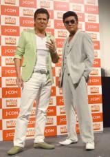 CSチャンネルドラマ『闇の法執行人』スペシャルトークショーに出席した(左から)竹内力、小沢仁志 (C)ORICON NewS inc.