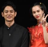 (左から)妻夫木聡、水原希子 (C)ORICON NewS inc.
