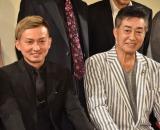映画『ブレイブX(テン)極道十勇士』の舞台あいさつに出席した(左から)ISSA、中条きよし (C)ORICON NewS inc.