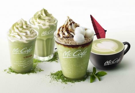 サムネイル 「マックカフェ」からトッピングが贅沢な『黒蜜きなこ抹茶フラッペ』が新登場