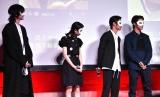 マスクをつけて登場したキャストたち=映画『東京喰種 トーキョーグール』の公開直前イベントの模様 (C)ORICON NewS inc.