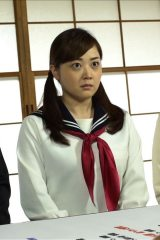 セーラー服姿を披露した水卜麻美アナウンサー(C)日本テレビ