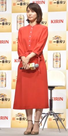 『KIRIN 新・一番搾り』CM発表会に出席した石田ゆり子 (C)ORICON NewS inc.