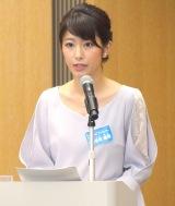 フジテレビ10月期改編説明会の司会を務めた海老原優香 (C)ORICON NewS inc.