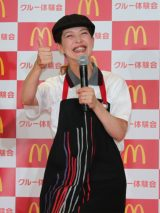 日本マクドナルド「マックなら、大丈夫。」キャンペーン発表会に出席した松嶋尚美 (C)oricon ME inc.