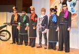 『仮面ライダーゴースト』の制作発表会に出席した西銘駿(右から2番目)、氣志團 (C)ORICON NewS inc.