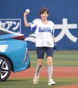 『TOYOTA☆横浜トヨペットナイター』で始球式を行った高島彩アナウンサー (C)ORICON NewS inc.