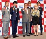 (左から)澤部佑、劇団ひとり、ビートたけし、コージ、ブルゾンちえみ、ダイキ (C)ORICON NewS inc.