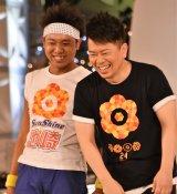 『24時間テレビ 40』に出演した(左から)サンシャイン池崎、宮迫博之 (C)ORICON NewS inc.