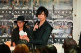 Shinji=原宿でアルバム発売イベントを開催したシド Photo by:飯岡拓也