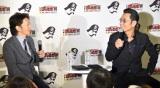 森アーツセンターギャラリーでトークショーを行った(左から)荒木飛呂彦氏、原哲夫氏 (C)ORICON NewS inc.