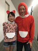 9月8日放送の『ミュージックステーション』に出演する「だいえモン」(横山だいすけ)と「サラミちゃん」(本田紗来)(C)テレビ朝日