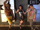 ブルゾンちえみ、今度は新ユニットで洋楽MVをコピー(左からCody、ブルゾン、矢内康洋)