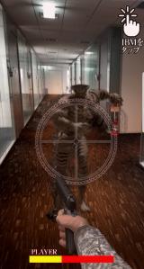 エンドレスに襲い掛かってくるIBMをタップで倒す、連打シューティングゲームの画面 (C)2017映画「亜人」製作委員会 (C)桜井画門/講談社