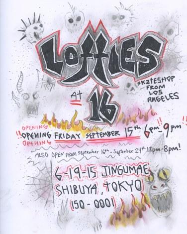 ギャラリー&ショップ「16」のオープン記念でLAのスケートショップ「Lotties」の個展を開催