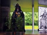 世界遺産・平等院で行われた映画『スター・ウォーズ/最後のジェダイ』成功祈願イベントで奉納された大蔵流狂言師によるスターウォーズ狂言 (C)ORICON NewS inc.