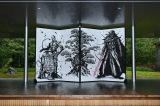 武人画師のこじょう雅之氏による『スター・ウォーズ/最後のジェダイ』武人画屏風
