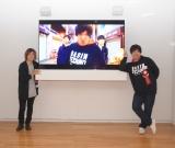 選出の決め手となった「MUSIC VIDEO」を上映展示 (C)ORICON NewS inc.