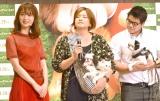 映画『僕のワンダフル・ライフ』イベントに出席した佐々木希(左) (C)ORICON NewS inc.