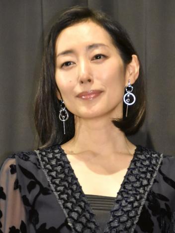 映画『望郷』初日舞台あいさつに登壇した木村多江 (C)ORICON NewS inc.