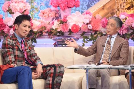 TBS『歌のゴールデンヒット オリコン1位の50年間』の収録に参加した(左から)郷ひろみ、堺正章(C)TBS