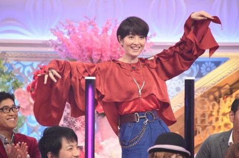 TBS『歌のゴールデンヒット オリコン1位の50年間』の収録に参加した荻野目洋子(C)TBS