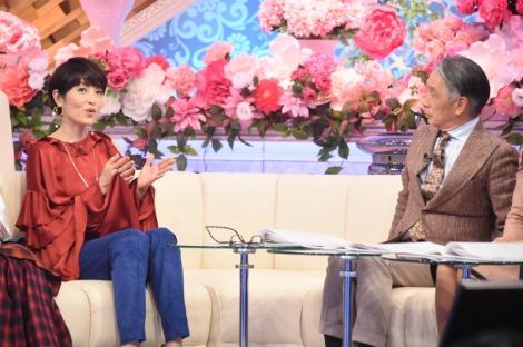 TBS『歌のゴールデンヒット オリコン1位の50年間』の収録に参加した(左から)荻野目洋子、堺正章(C)TBS