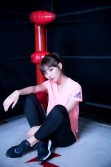 舞台『チョップ、ギロチン、垂直落下』で女子プロレスラー役に挑む内田理央(撮影/厚地健太郎)