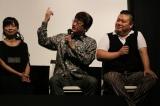 アニメ『鬼平』の一挙上映イベント「鬼平ナイト」に出席した(左から)岩男潤子、田中公平氏(音楽担当)・川村竜氏(音楽担当)