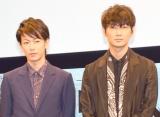 頭脳対決で仲の良さを見せつけた(左から)佐藤健、綾野剛 (C)ORICON NewS inc.