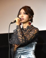 映画『ユリゴコロ』初日舞台あいさつに出席したRihwa
