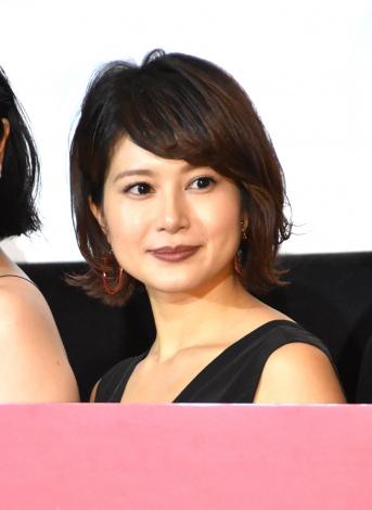 映画『ユリゴコロ』初日舞台あいさつに出席した佐津川愛美