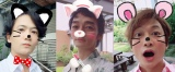 SNOWで動物になった(左から)稲垣吾郎、草なぎ剛、香取慎吾