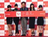 Yahoo!JAPAN『SILENT SIRENを追え。フォローキャンペーン記念LIVE』に出席した石田純一(中央)とSILENT SIREN (C)ORICON NewS inc.